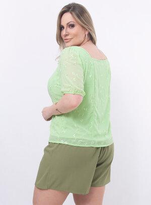 Blusa Plus Size Delicada
