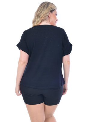 Blusa Plus Size Brilho