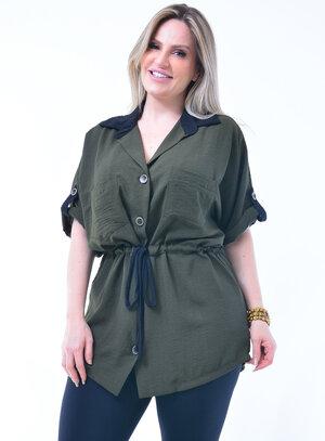 Camisa Plus Size Modelo Parka