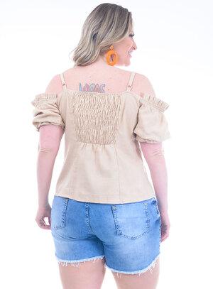 Blusa Plus Size Cheia de Graça