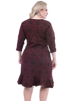 Vestido Stillo Kasual Midi Plus Size