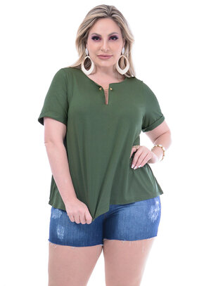 Blusa Wee Verde Musgo Plus Size