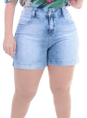 Bermuda Jeans Plus Size Gêmeos