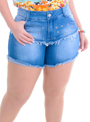 Shorts Jeans Plus Size Maitê