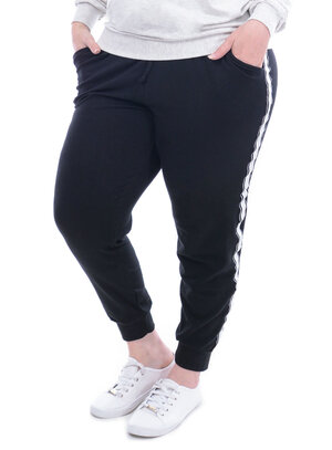 Calça Jogger Plus For You Moletinho Plus Size
