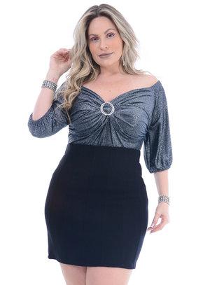 Blusa Plus Size Natural