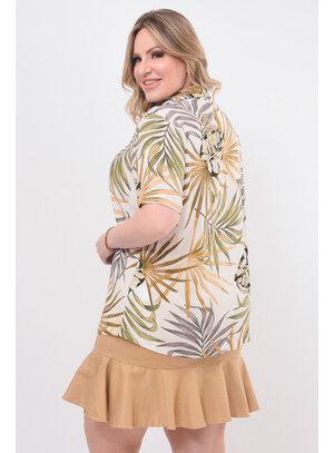 Camisa Feminina Plus Size Estampada