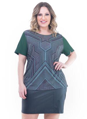 Blusa Plus Size Confortável Verde