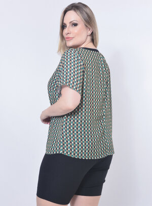 Blusa Plus Size Estampa