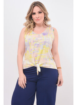 Regata Plus Size com Laço