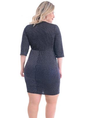 Vestido Plus Size Justo