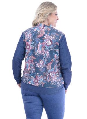 Jaqueta Melinde Floral Plus Size