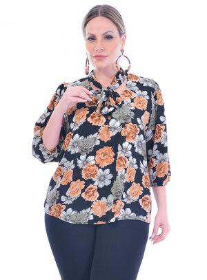 Blusa Plus Size Floral
