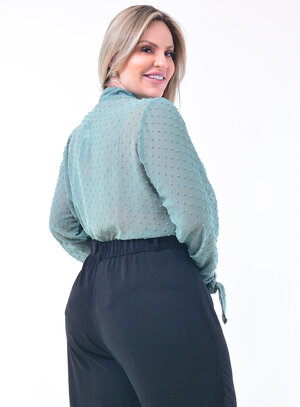 Camisa Plus Size Tule Poá