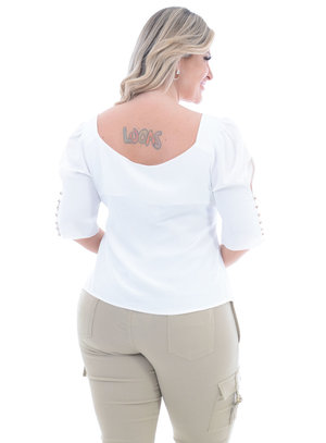 Blusa Plus Size Positividade