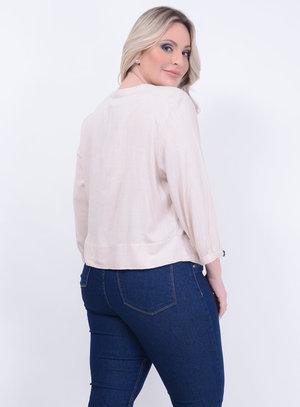 Blusa Linho Nozinho Plus Size