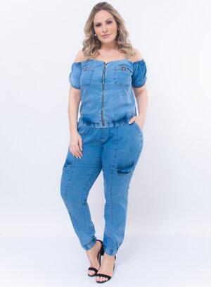 Conjunto Plus Size Jeans