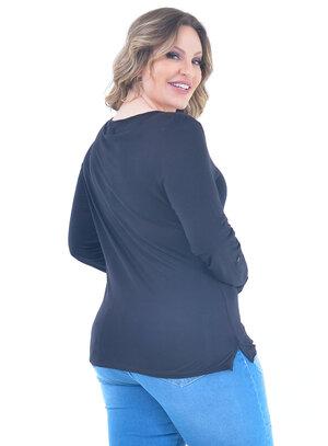 Blusa Plus Size Clássica Preta