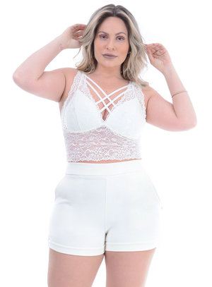 Top Plus Size Sofisticado