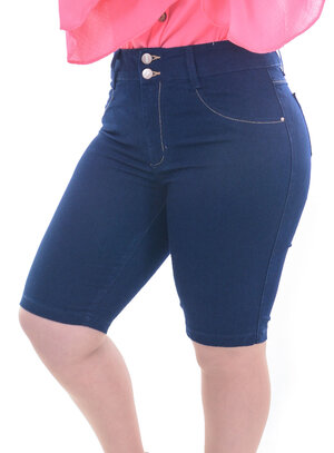 Bermuda Jeans Cambos Ciclista Plus Size
