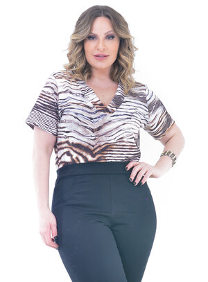 Body Plus Size Animal Print