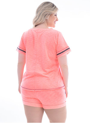 T-Shirt Plus Size Barrocas