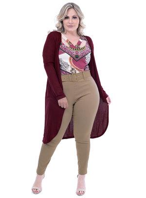 Cardigan Plus For You Bordo Plus Size