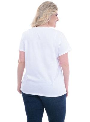 T-Shirt Plus Size Levi's Branca Faixa
