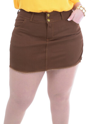 Short Saia Plus Size Sarja