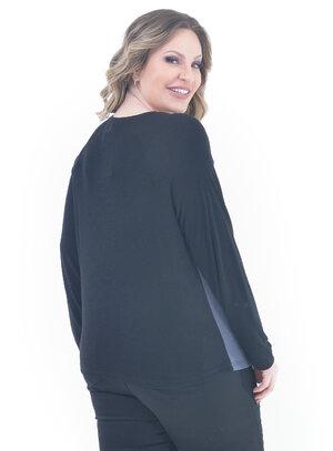 Blusa Plus Size Assistente Preta