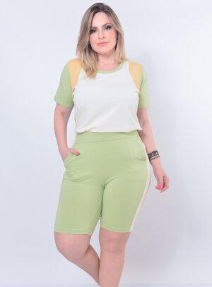 Conjunto Plus Size Verde