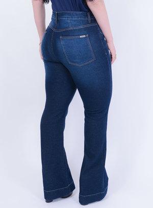 Calça em Jeans com Elastano Flare Cintura Alta