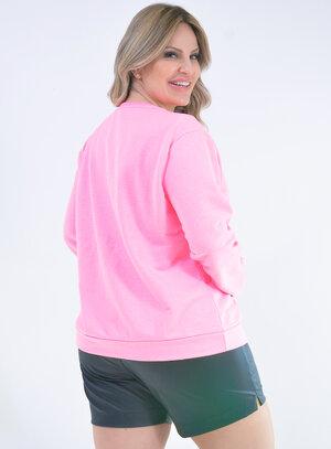 Moletom Neon Plus Size Rosa