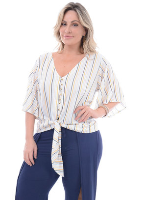 Camisa Plus Size Cereja