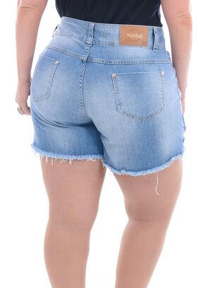 Shorts Saia Jeans Plus Size Destroyed