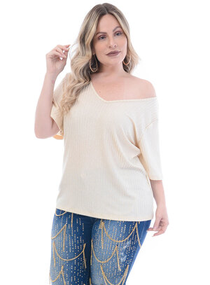 Blusa Plus Size Dourada