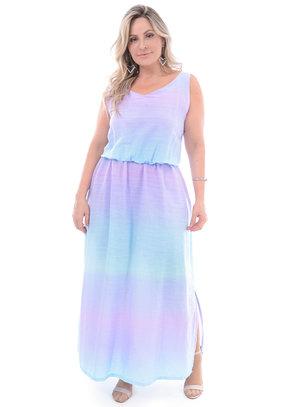 Vestido Longo Plus Size Açaí