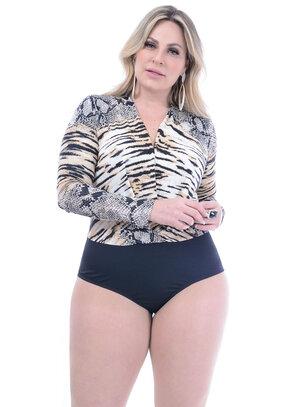 Body Marileti Animal Print Plus Size