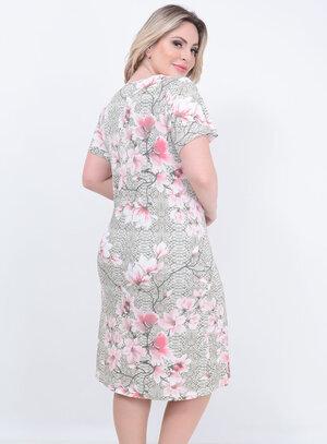 Camisola Renda Decote Rosa Plus Size