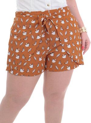 Shorts Plus Size Cisne