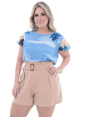 Blusa Plus Size Sorriso