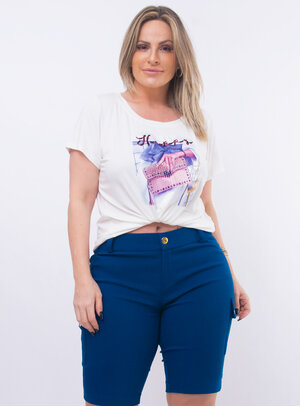 T-Shirt Plus Size Bordada