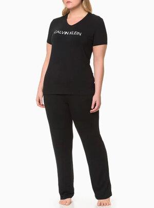 Pijama Plus Size Calvin Klein Preto
