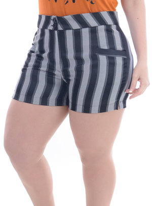 Shorts Plus Size Listrado
