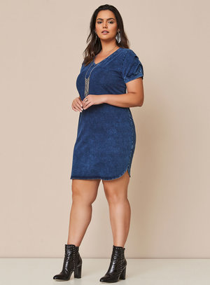 Vestido Plus Size Meca