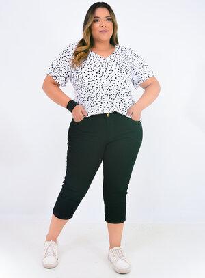 Capri Jeans Plus Size Preta