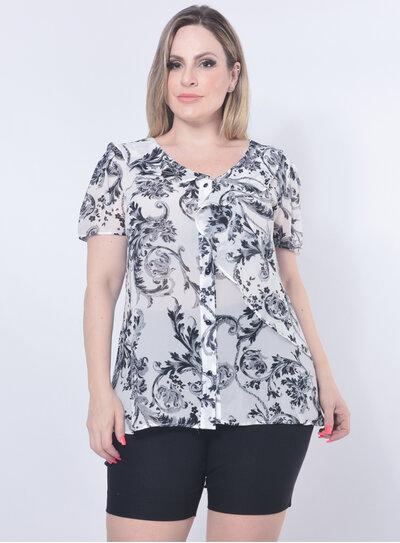 Camisa Plus Size Babado
