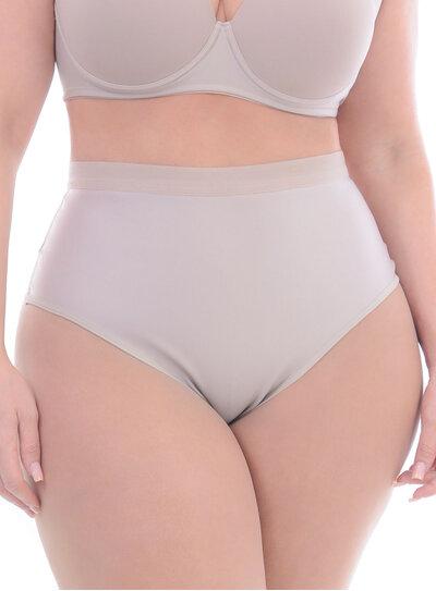 Calcinha Plus Size Cintura Alta Nude