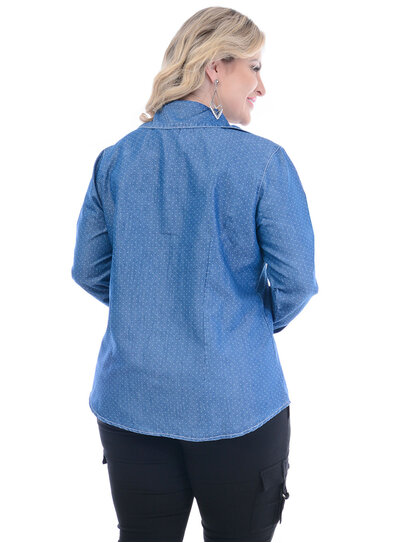 Camisa Jeans Plus Size Attribute