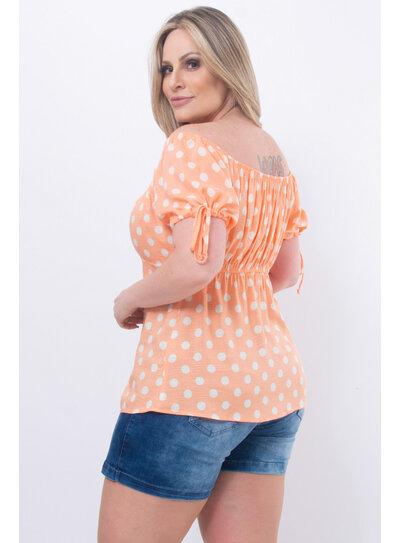 Blusa Plus Size Ombro a Ombro Póa